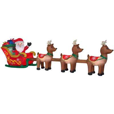 home accents holiday instructions santa in sleigh reindeers