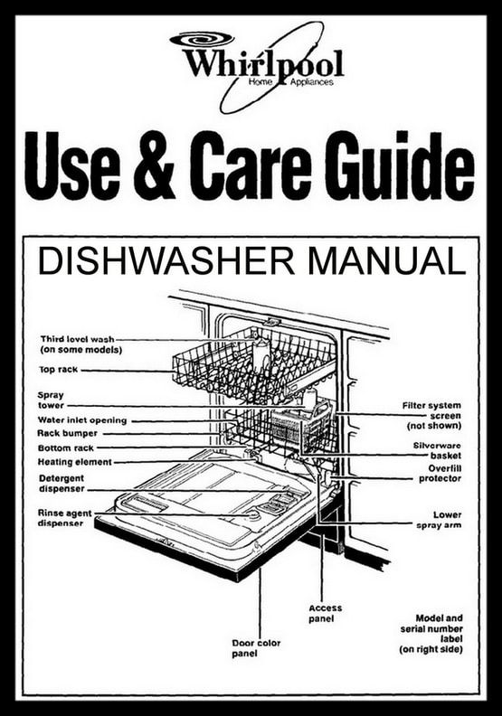 Whirlpool quiet partner v dishwasher manual