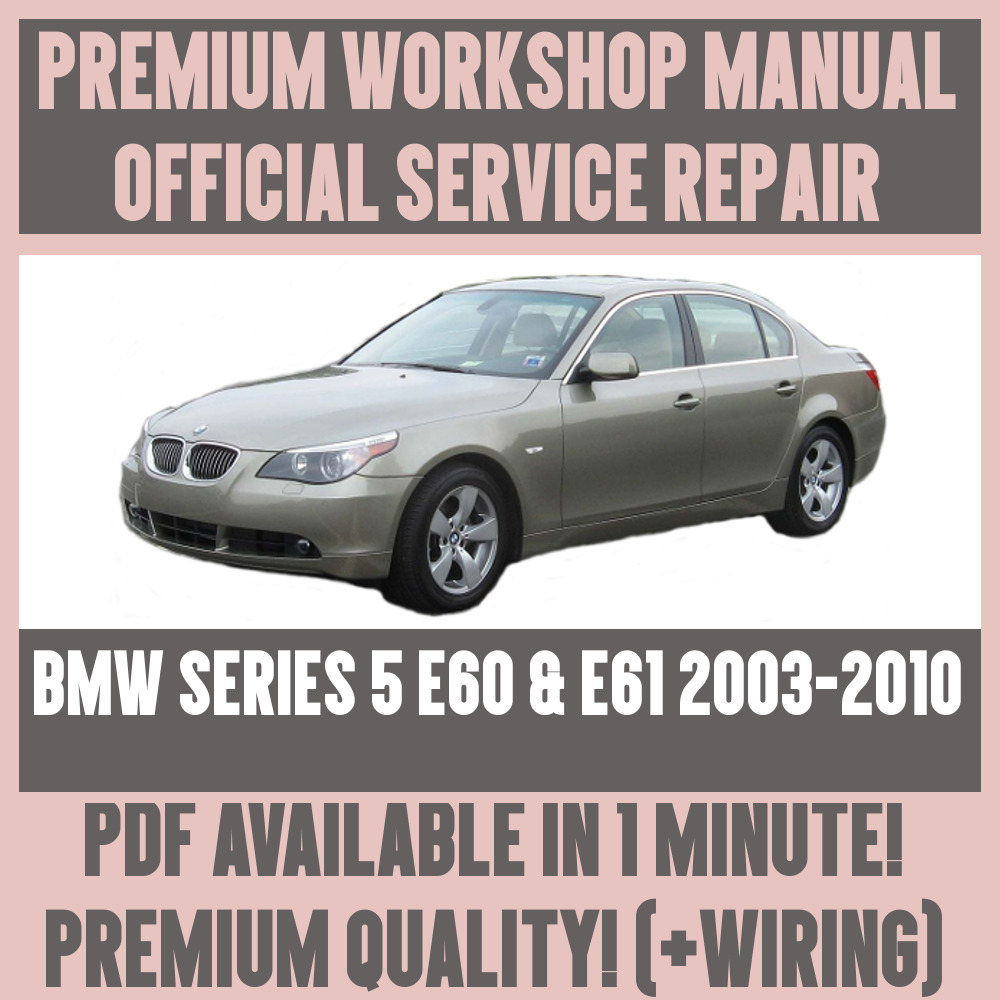 bmw e60 repair manual free download