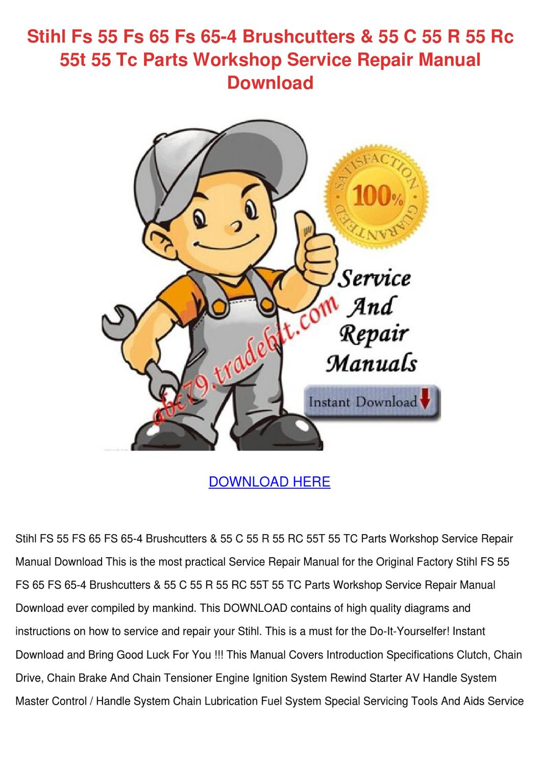 Stihl fs 76 repair manual