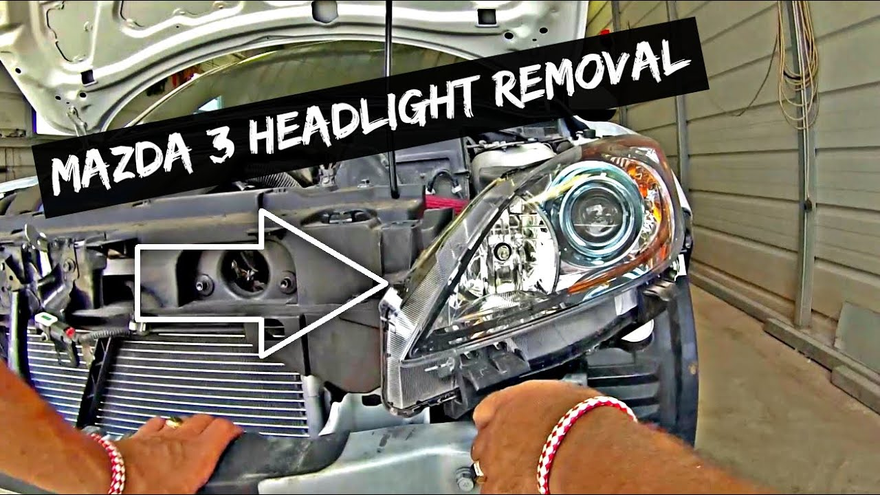 Mazda 3 2008 how to change head light