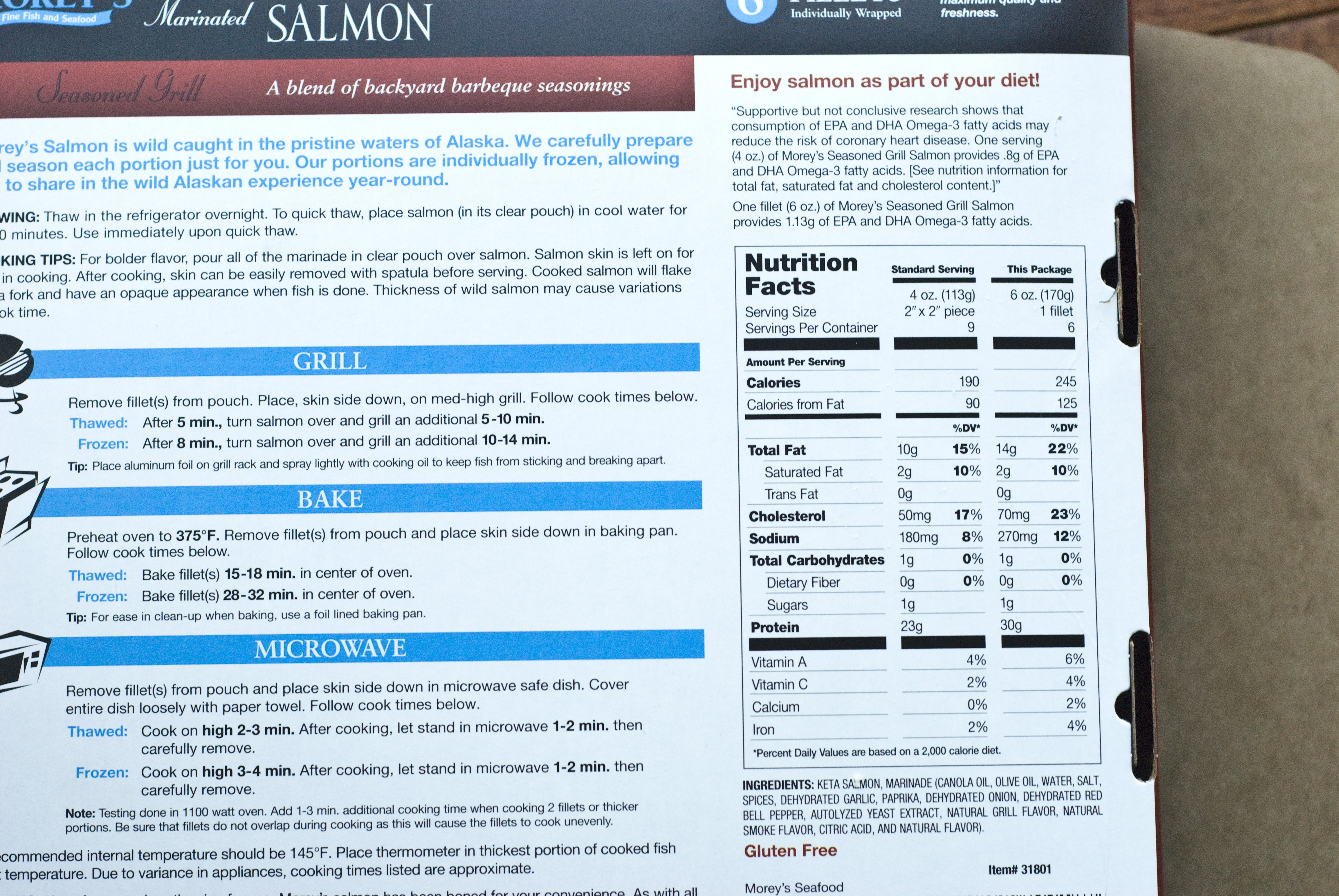 Costco frozen salmon cooking instructions