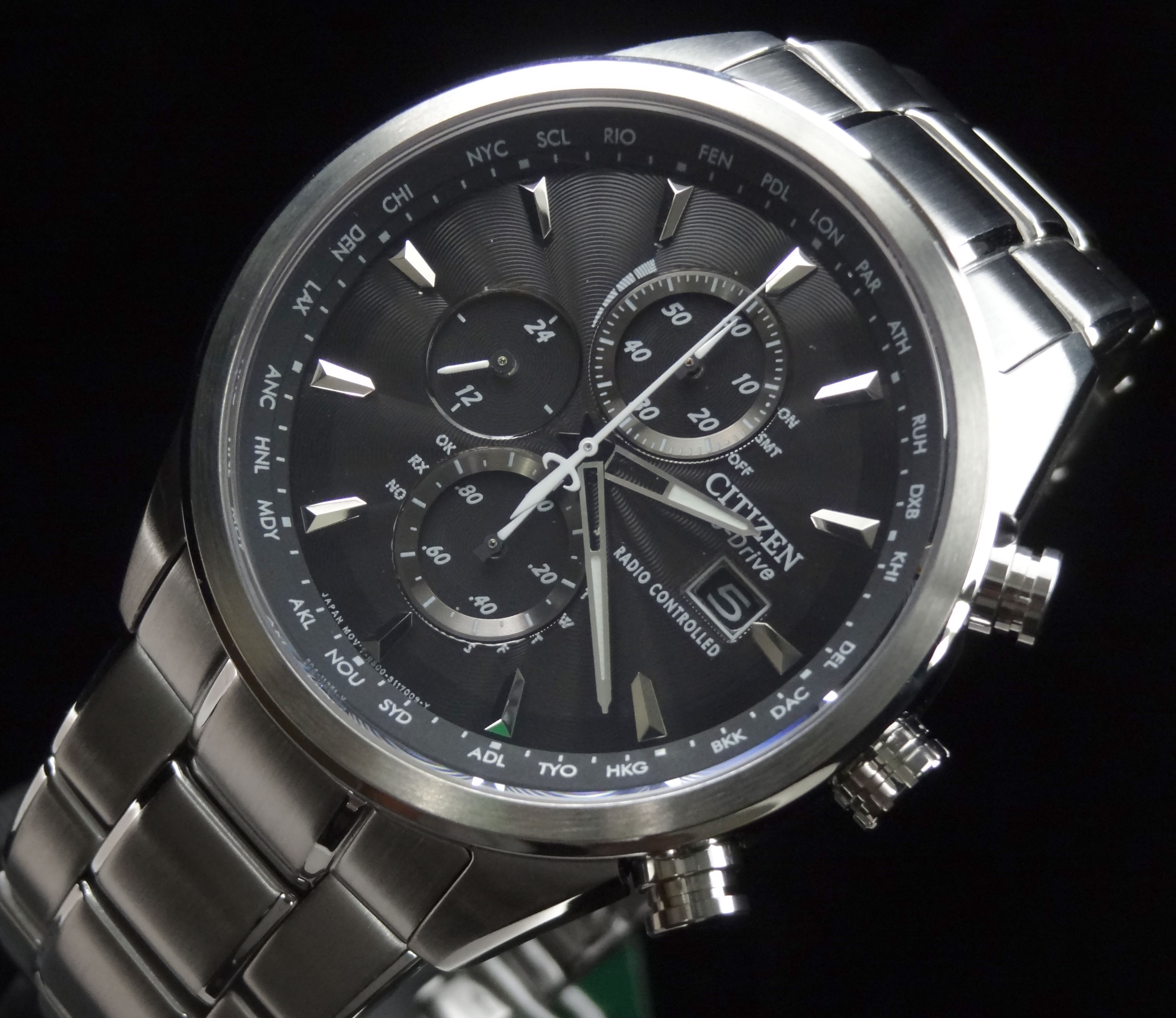 Citizen world chronograph at manual