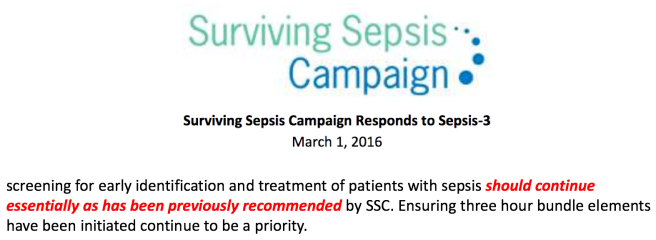 Sepsis 2016 sepsis guidelines first three hours