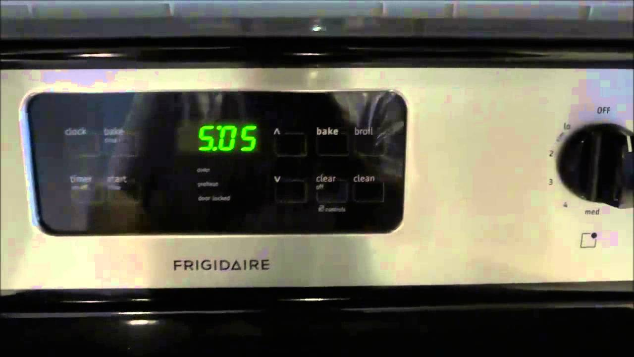 Kenmore stove timer how to set it