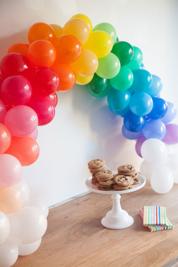 rainbow balloon arch instructions