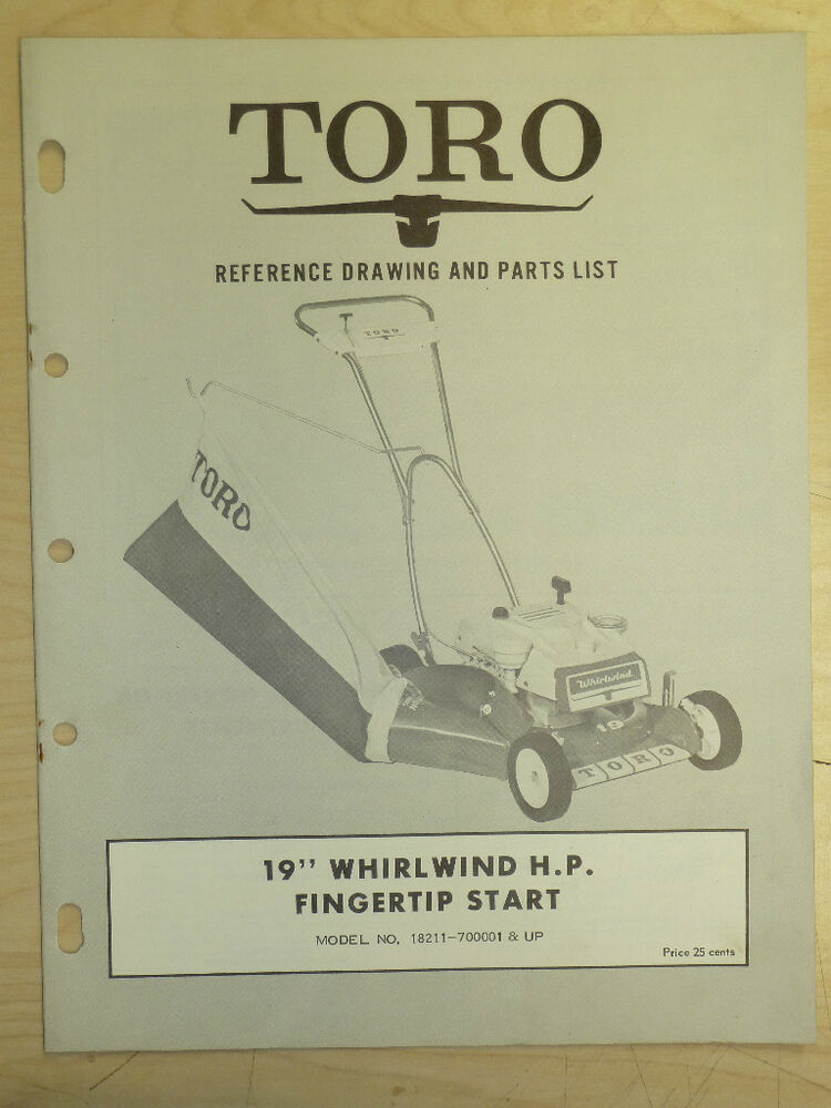 toro ride on mower parts manuals